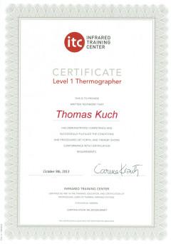 Zertifizierter Thermograf Stufe 1 Flir ITC